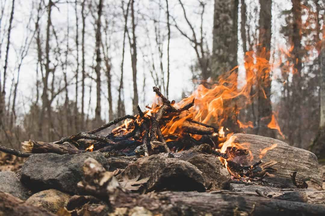 Camping Cooking Over Fire