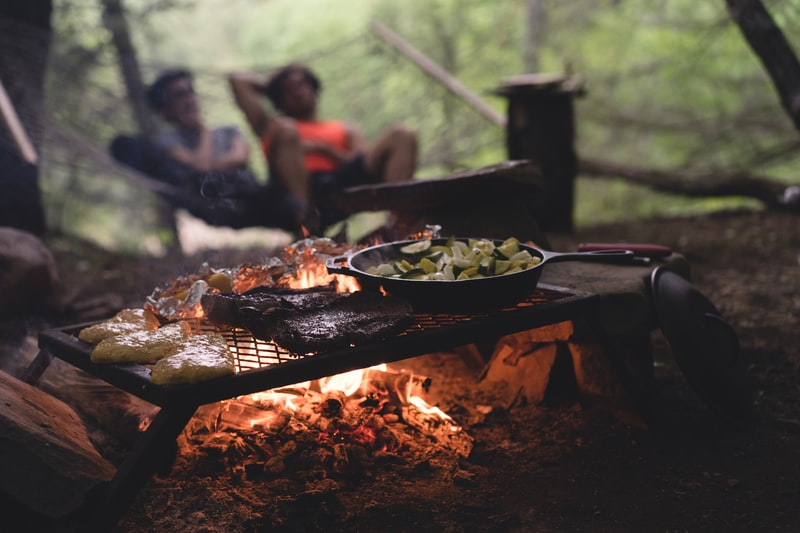 coleman camping cooking